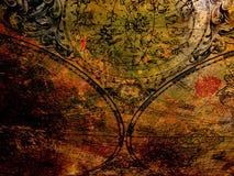Mapa viejo en el metal oxidado Foto de archivo libre de regalías
