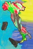 Mapa Włochy Fotografia Stock