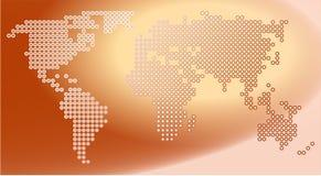 mapa w kropki Obrazy Stock