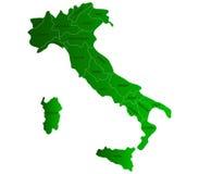 Mapa Włochy Zdjęcia Stock