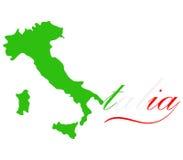 Mapa Włochy Zdjęcia Royalty Free