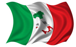Mapa Włochy Mapa Flaga/ Obraz Royalty Free