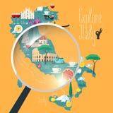 Mapa Włochy wektorowa ilustracja, projekt Zdjęcia Stock