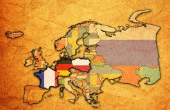 Mapa Weimar trójbok Fotografia Royalty Free