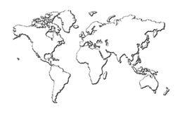 mapa wektor Fotografia Stock