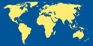 mapa świat Fotografia Stock