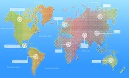 Mapa świat. Obraz Stock