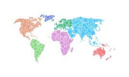 Mapa świat Obrazy Stock
