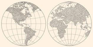 mapa świata Obraz Royalty Free