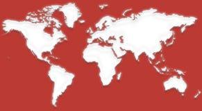 mapa świata x Obrazy Stock