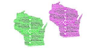 Mapa Wisconsin - wektorowa ilustracja Royalty Ilustracja