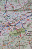 Mapa Wschodni TN Zachodni Pólnocna Karolina zdjęcie stock