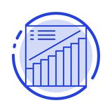 Mapa, wykres, analityka, prezentacja, sprzedaży linii linii błękit Kropkująca ikona ilustracji