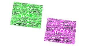 Mapa Wyoming - wektorowa ilustracja Royalty Ilustracja