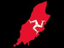 mapa wyspy man Zdjęcie Royalty Free