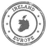 Mapa y texto del sello de goma del grunge de Irlanda Fotos de archivo libres de regalías