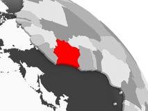 Mapa Z kości słoniowej wybrzeże ilustracji
