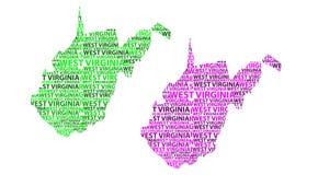 Mapa Zachodnia Virginia - wektorowa ilustracja Royalty Ilustracja