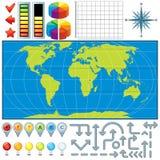Mapa Zestaw Zdjęcie Stock