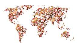 Mapa ziemia, komunikacja, sieć, drogi lub abstrakcja, royalty ilustracja