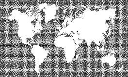 mapa ziemski labirynt Zdjęcie Stock