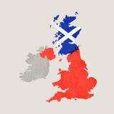 Mapa Zjednoczone Królestwo z pęknięciem ilustracja wektor