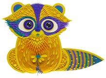 mapache Azul-amarillo del plasticine Imágenes de archivo libres de regalías