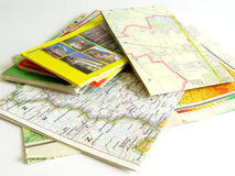 Mapas Foto de Stock Royalty Free