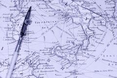 Mapas antigos Fotografia de Stock Royalty Free