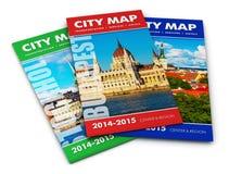 Mapas da cidade do turista Foto de Stock Royalty Free