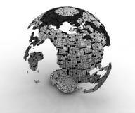 mapas da tecnologia do mundo 3d ilustração royalty free