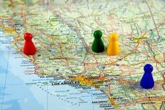 Mapas de Califórnia Imagens de Stock Royalty Free