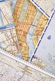 Mapas de estrada Fotos de Stock Royalty Free