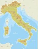 Mapas de Italia Imagens de Stock