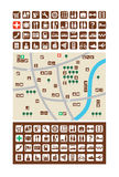 Mapas de la ciudad, iconos Imágenes de archivo libres de regalías