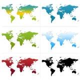 Mapas de mundo Imagem de Stock Royalty Free