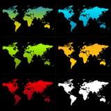 Mapas de mundo ilustração royalty free