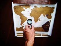 Mapas de mundo Imagens de Stock