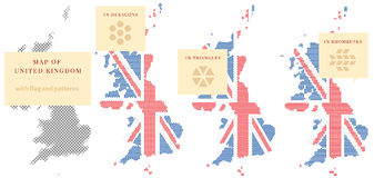 Mapas de Reino Unido Foto de Stock