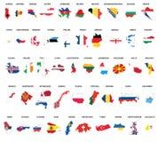 Mapas del país de Europa Foto de archivo libre de regalías