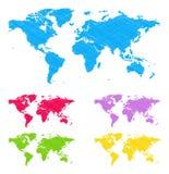 Mapas do Doodle Imagens de Stock