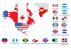 Mapas do esboço dos países  Imagens de Stock