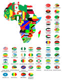 Mapas do esboço dos países  Foto de Stock Royalty Free