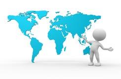 Mapas do mundo Imagem de Stock Royalty Free