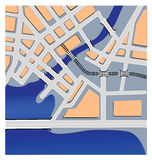 Mapas urbanos Foto de Stock Royalty Free