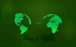 Mapas verdes ilustração stock