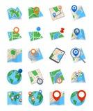 Mapas y iconos de la navegación - sistema 2 Fotografía de archivo libre de regalías