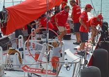Mapfre Race Team Has some Young Helmsmen Stock Photos