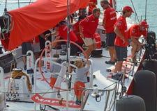 Mapfre-Rennen Team Has einige junge Steuermänner Stockfotos
