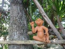 Małpia gliniana rzeźba Zdjęcie Royalty Free